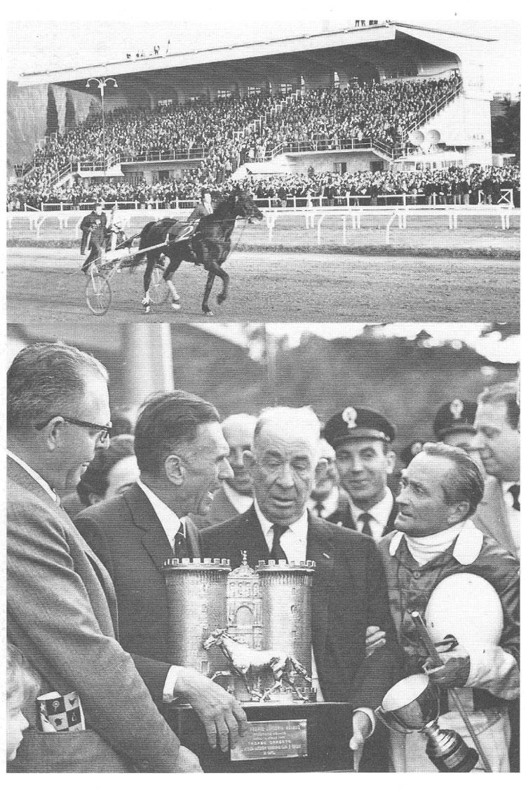 1965 Elma vince il Lotteria - in basso il driver J.Fromming e proprietario Leonard Sheppard